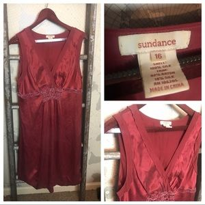 Sundance silk midi dress size 16 GUC
